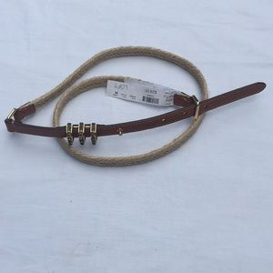 NWT Loft Braided Jute Belt. Size M